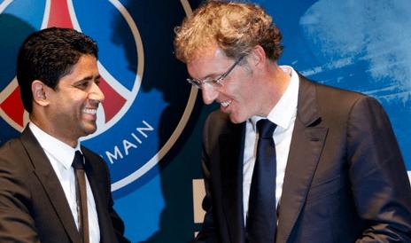 Laurent Blanc et Nasser al-Khelaïfi