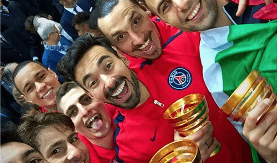 selfie PSG Coupe de la Ligue