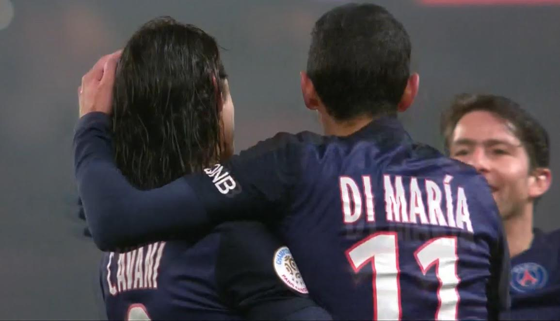Cavani, Di Maria et Maxwell