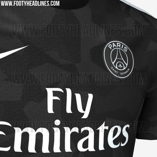 maillot europe du psg 2018 en mode camouflage voici les images vipsg. Black Bedroom Furniture Sets. Home Design Ideas