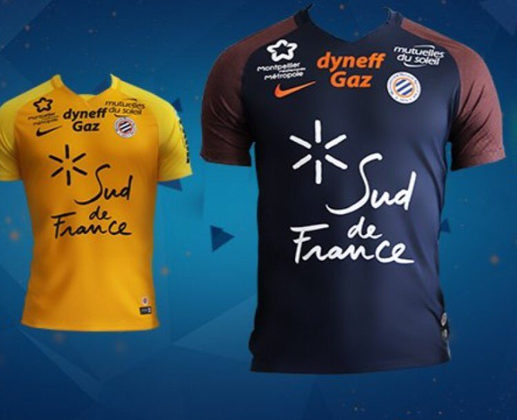 les nouveaux maillots de montpellier des copier coller des maillots du psg vipsg. Black Bedroom Furniture Sets. Home Design Ideas