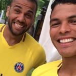 Dani Alves et Thiago Silva