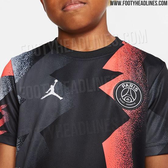 hot sale online e28aa ea1b0 jordan-psg-19-20-away-pre-match-shirt-4 - VIPSG
